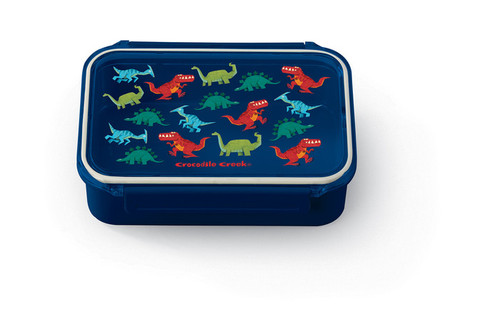 Crocodile Creek Bento Box, Dinosaurs, navy blue