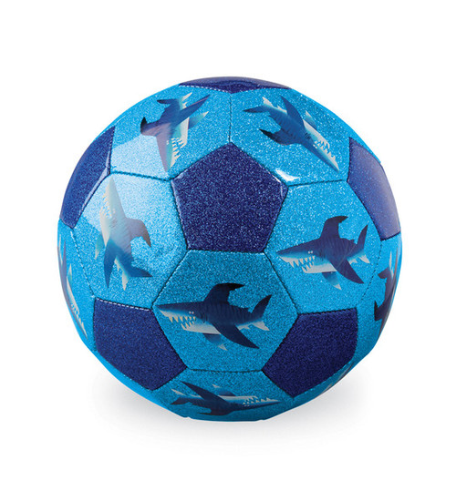 Crocodile Creek Soccer Ball, Shark City, blue