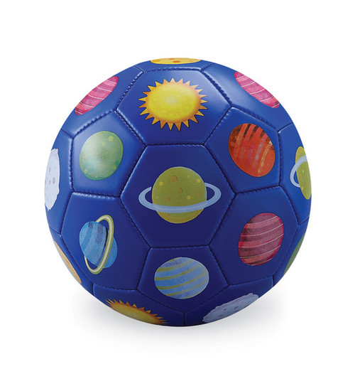 Crocodile Creek Soccer Ball, Solar System, royal blue