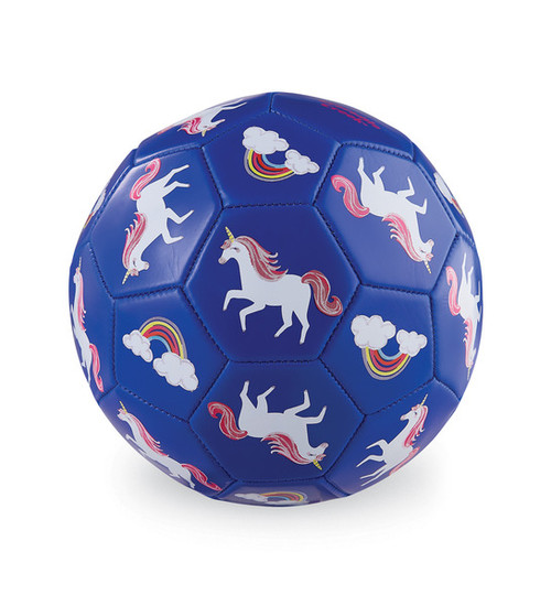 Crocodile Creek Soccer Ball, Unicorn, purple