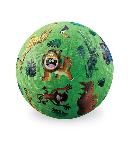 "Crocodile Creek 5"" Playball, Very Wild Animals, lime green"