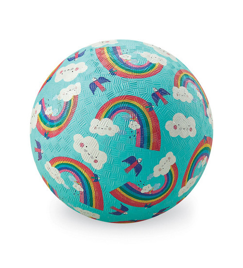 "Crocodile Creek 5"" Playball, Rainbow Dreams, aqua"