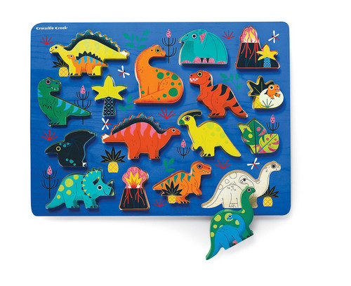 Crocodile Creek Let's Play 16 pc. puzzle playset Dinosaurs