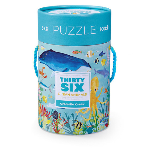 100 Pc. Cylinder Puzzle-Ocean Animals