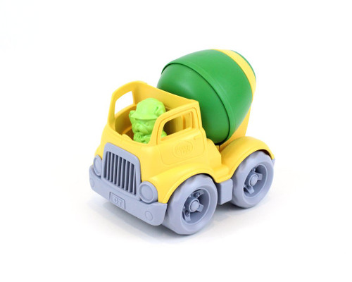 Green Toys MIxer truck yellow and green