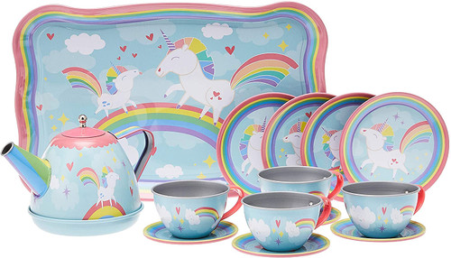 Tin Tea Set-Unicorn