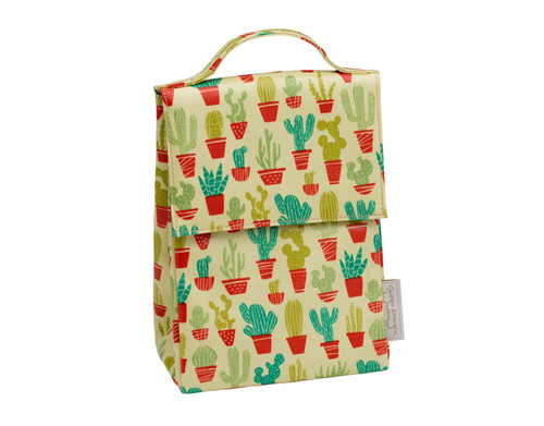 Sugarbooger Classic Lunch Sack, Happy Cactus, yellow