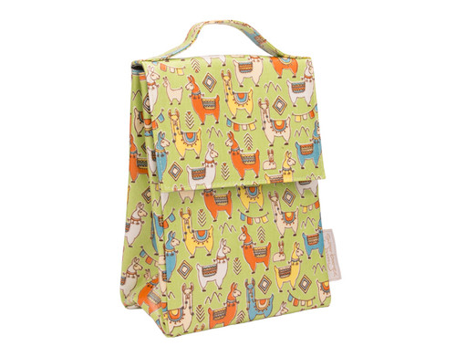 Sugarbooger Classic Lunch Sack,  Mama Llama, yellow-green