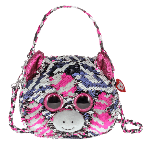 Sequin Purse-Zoe Zebra