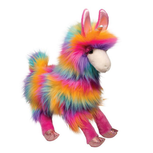 "Rainbow Fuzzle Llamacorn-13"" long"