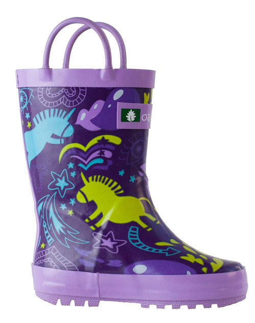 Purple Unicorns Rainboots