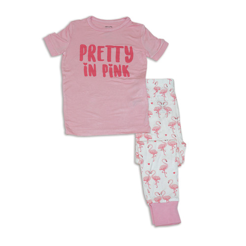 Bamboo Pajama Set-Flamingo