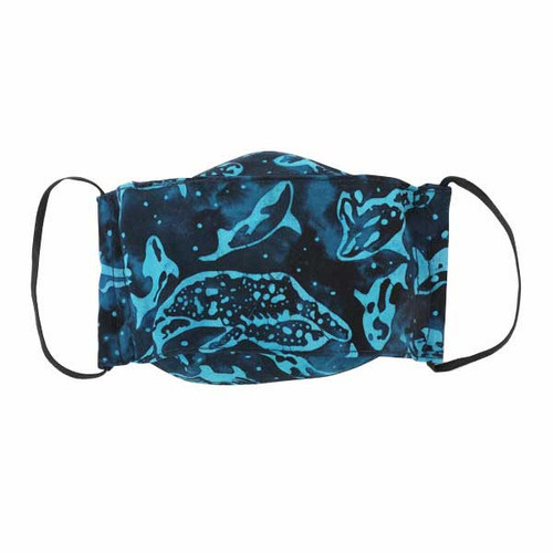 Kids Cloth Face Mask-Batik Whale
