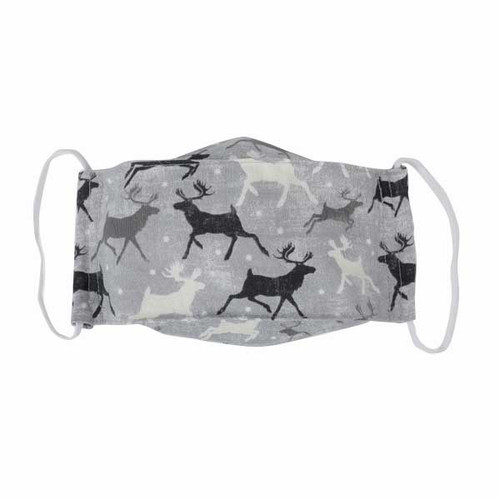 Adult Cloth Face Mask-Snow Moose