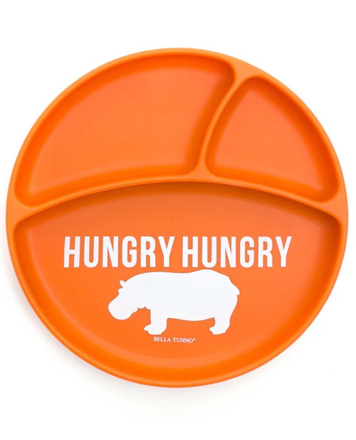 "Bella Tunno Wonder Plate ""Hungry Hungry Hippo"" orange"