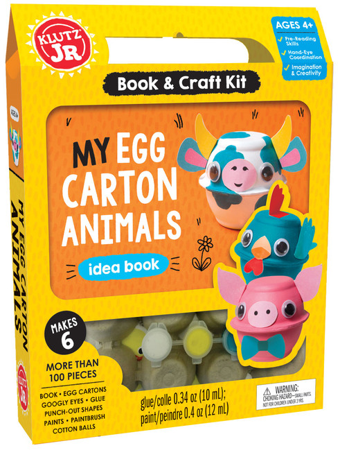 Klutz JR. My egg carton animals craft kit