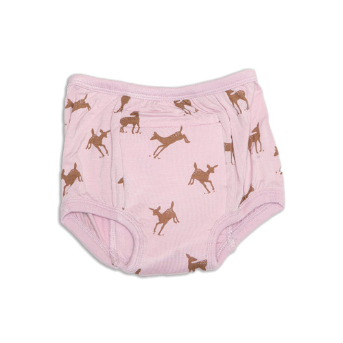 "Silkberry Baby bamboo training pants ""autumn deer"" pink"