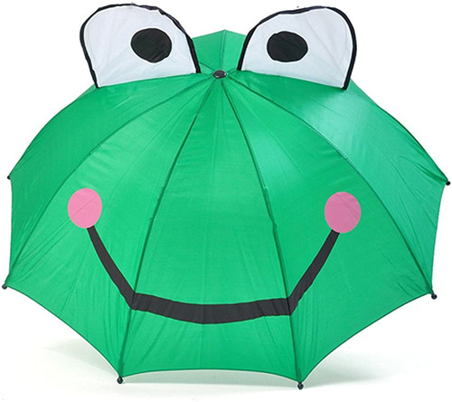 Toysmith kids frog umbrella, opened