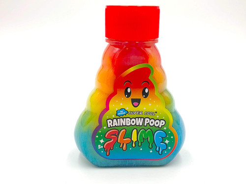 Super cool rainbow poopie slime