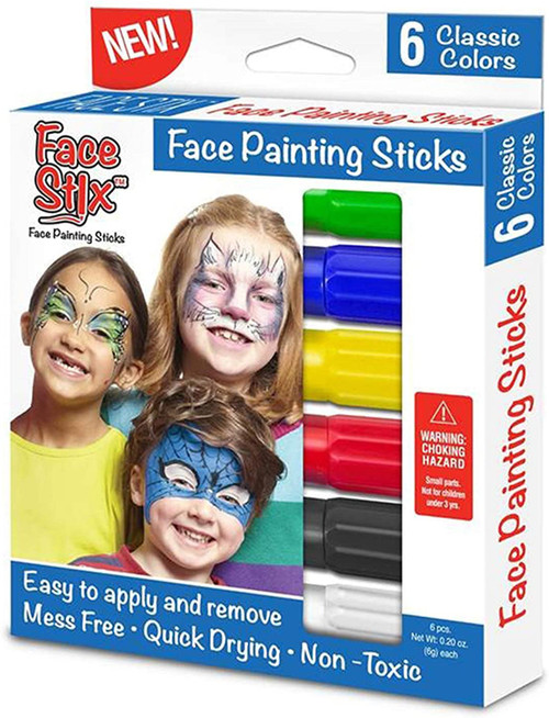 Face Stix 6 pack face paint sticks