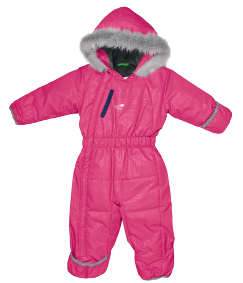 Perlimpinpin one piece toddler snowsuit, pink aztek