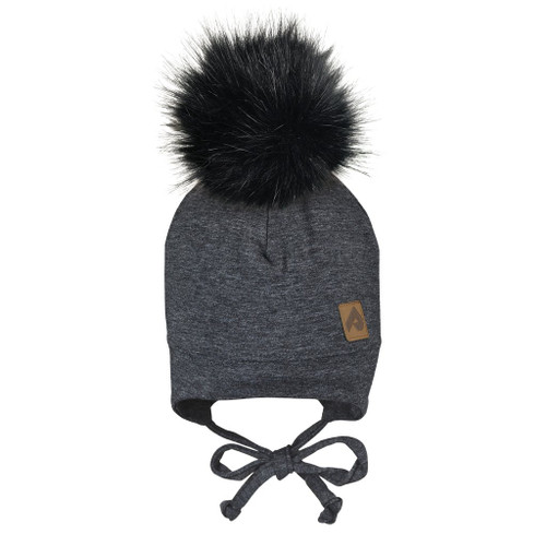 Perlimpinpin baby toque with removable pompom