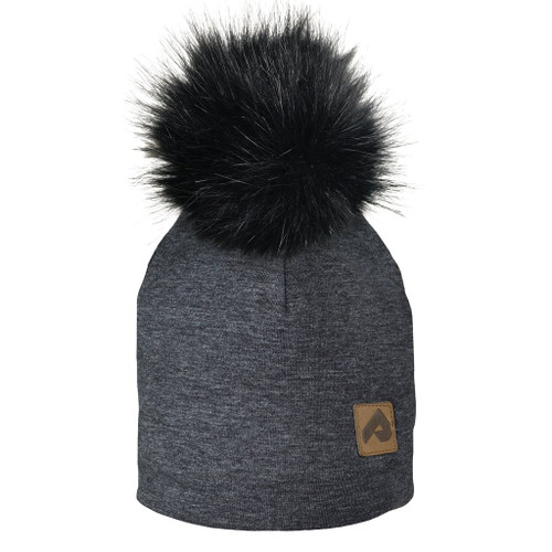 Perlimpinpin 3 season jersey hat, black heather