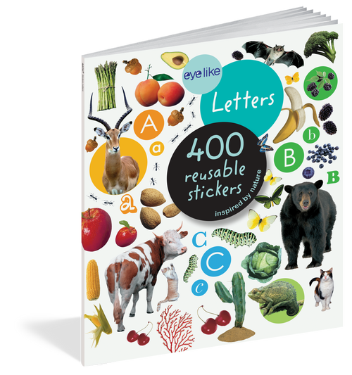 Eyelike Sticker book, letters inspired by nature