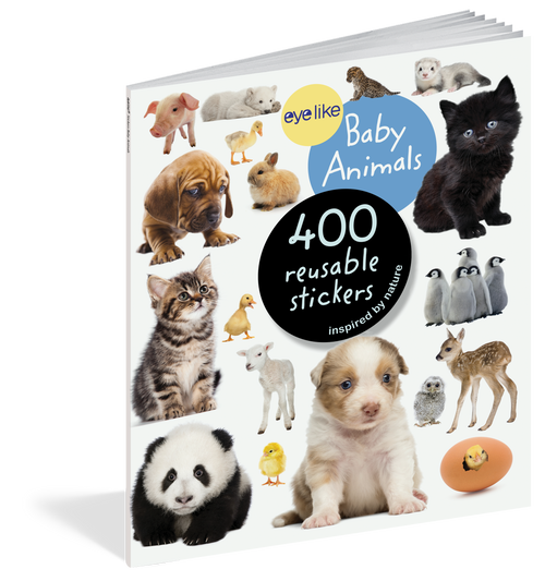 Eyelike Sticker book-Baby animals