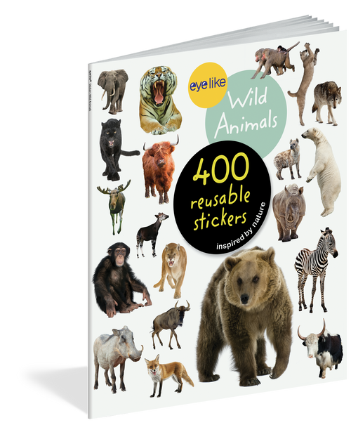 Eyelike sticker book-wild animals
