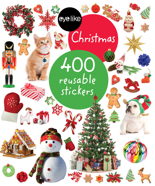 Eyelike sticker book Christmas front of book
