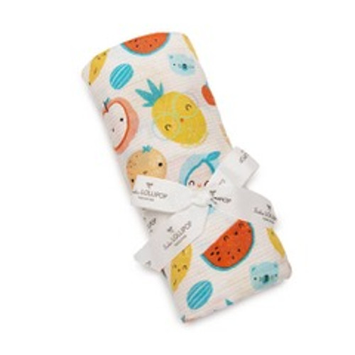 Loulou Lollipop Muslin Swaddle-Cutie Fruits