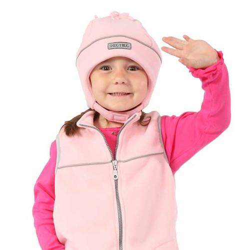 Light Pink Reflective Hat on model