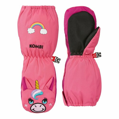 Kombi Imaginary friend mitts, Lily the Unicorn, bright pink
