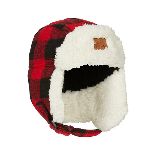 Kombi The Hip Aviator Jr. Hat red buffalo plaid