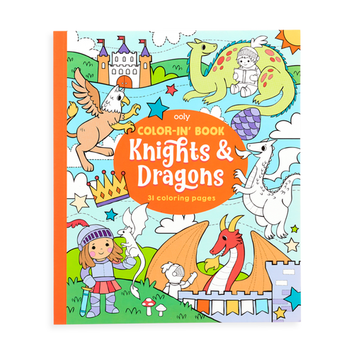 Ooly knights and dragons colouring book