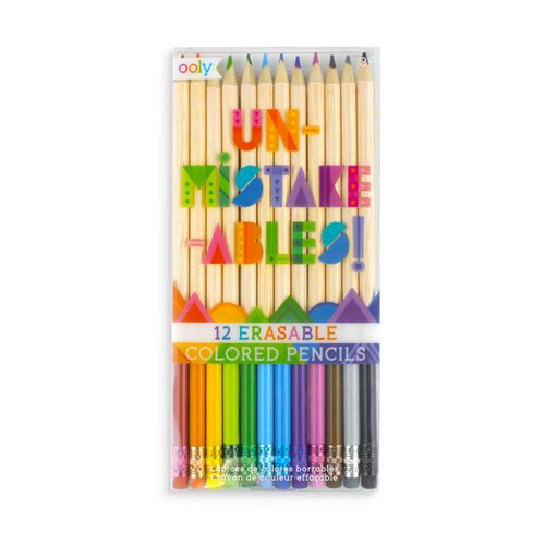 Ooly unmistakeables eraseable coloured pencils in package