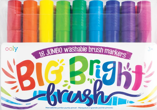 Ooly Big Bright Brush Markers in package