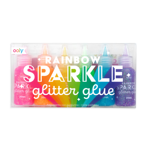 Ooly rainbow sparkle glitter glue in package