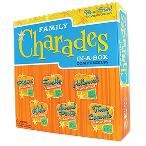 Family Charades compendium in a box
