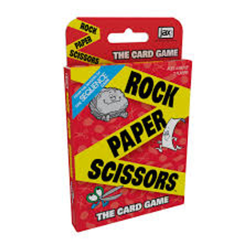 rock paper scissors card game box