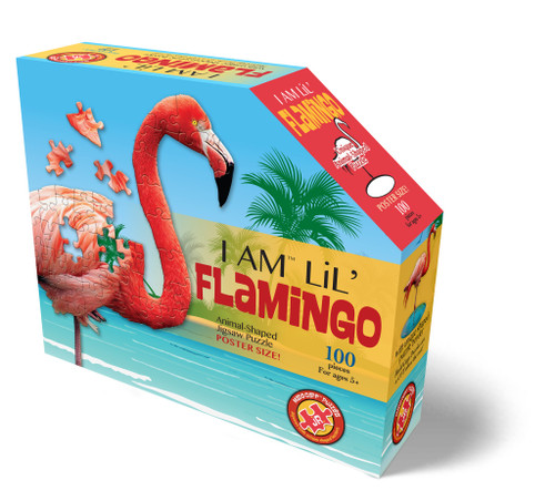 Madd Capp 100 piece shaped puzzle flamingo