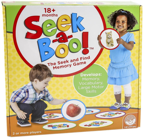 Seek-a-boo game box