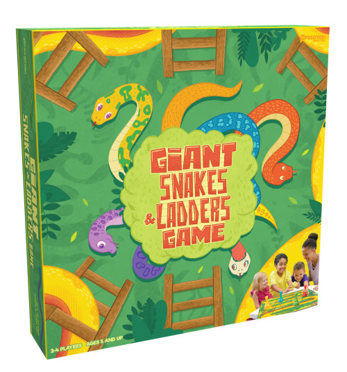 Pressman giant snakes and ladders game box