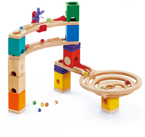 Hape Race to the Finish wooden marble run