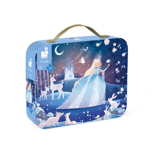 Janod Ice Queen 54 piece puzzle in case