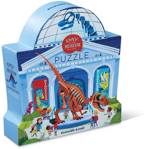 Crocodile Creek 48 piece dinosaur museum puzzle