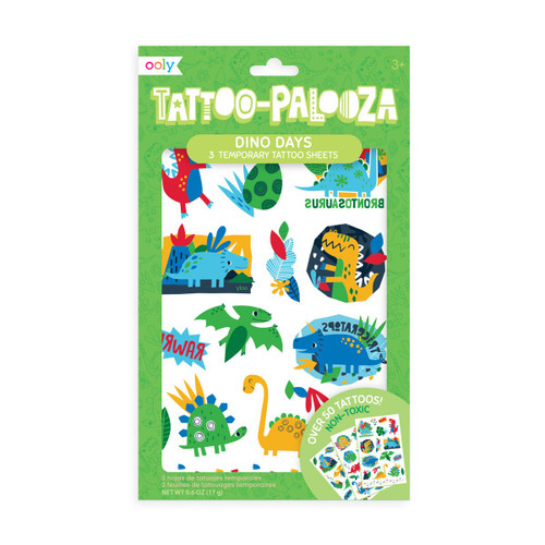 Ooly dino days temporary tattoos