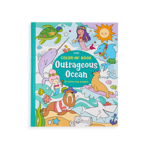 Ooly outrageous ocean colouring book, cover shown