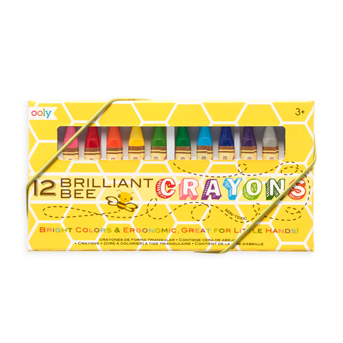 12 pack Brilliant Bee crayons